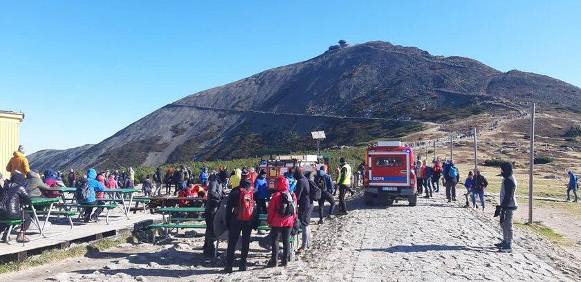 Akcja ratowników w okolicy Domu Śląskiego
