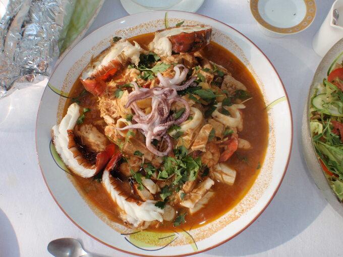 Kenia -najbogatsza zupa zowoców morza ever