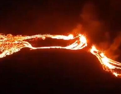 Erupcja wulkanu Fagradalsfjall na Islandii. Zobaczcie nagrania