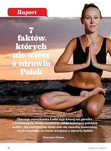Okładka Raport Wprost – Zdrowie Polek (2019 r.)