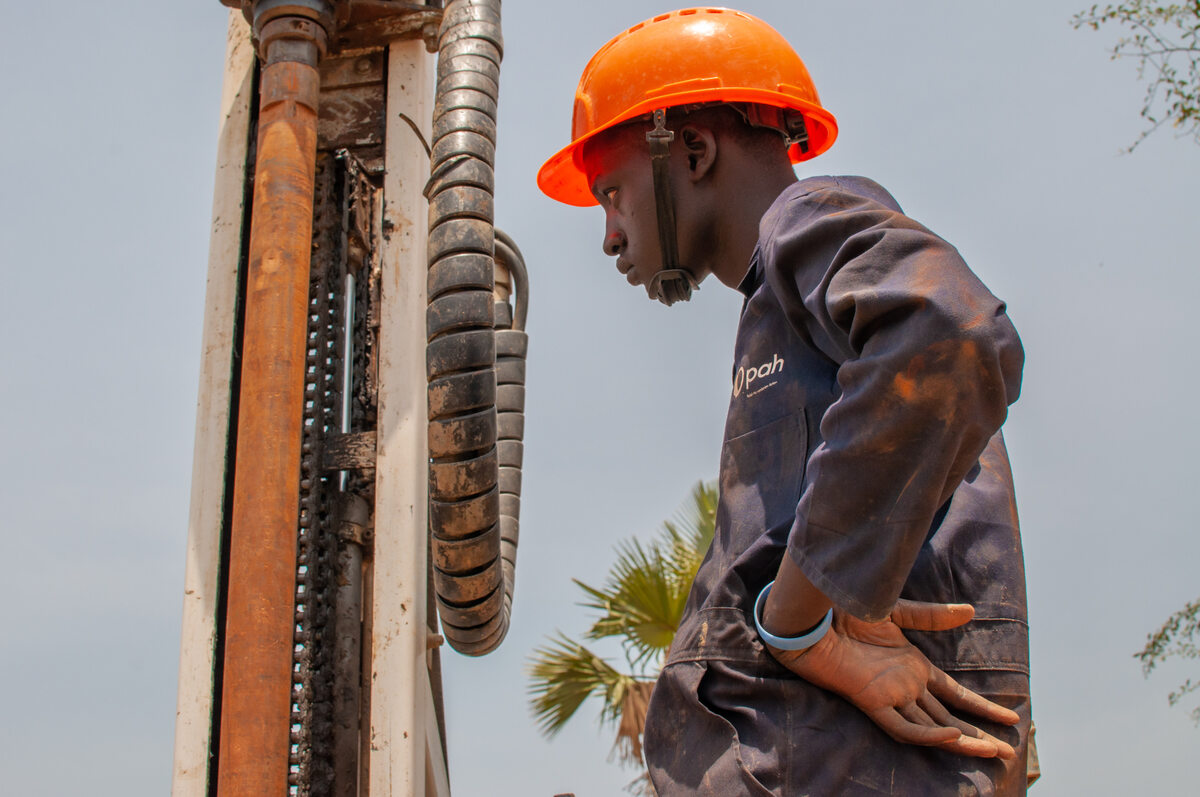 Wiercenie studni w Sudanie Południowym