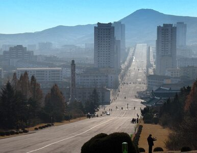 "Korea Północna: ""Kim Dzong Un"" runął. Zdmuchnął go... wiatr"