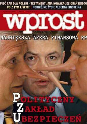 Okładka tygodnika Wprost nr 4/2005 (1156)
