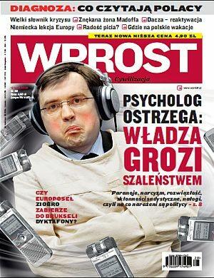 Okładka tygodnika Wprost nr 28/2009 (1383)