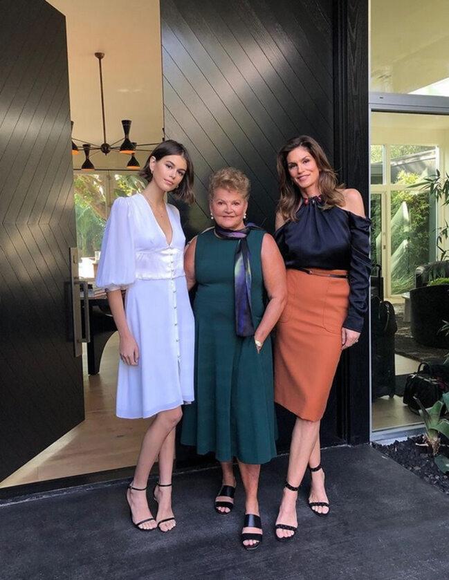 Kaia Gerber, Cindy Crawford, Jennifer Sue Crawford-Moluf
