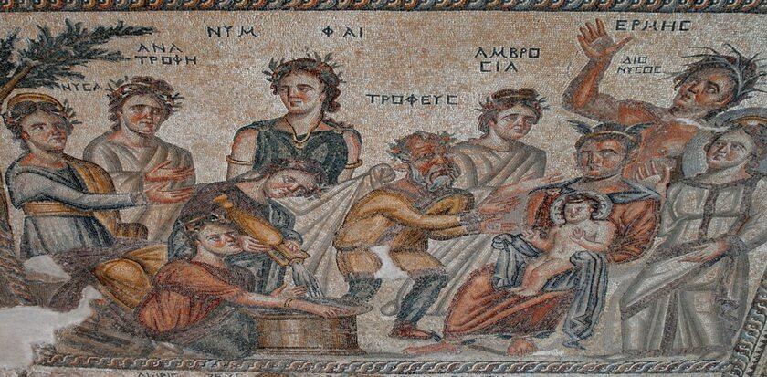 Starożytna mozaika z domu w Nea Pafos na Cyprze
