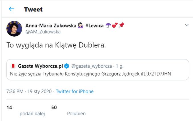 Wpis Anny Marii Żukowskiej