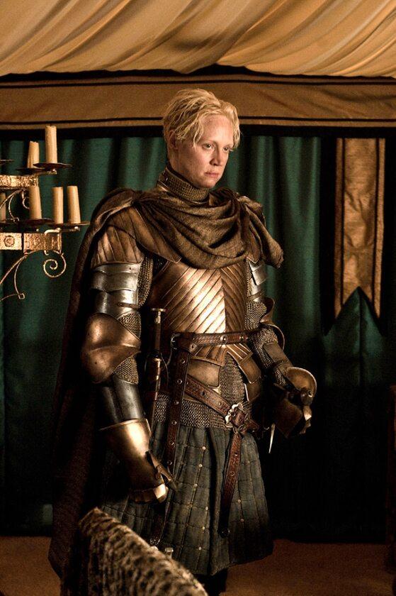 """Brienne z Tarthu po raz pierwszy w serialu """"Gra o tron"""" W postać tę wciela się aktorka Gwendoline Christie."""