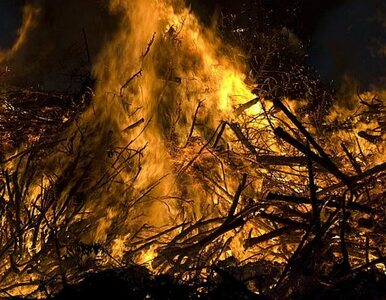 Pożar w Raszynie. Spłonął pustostan