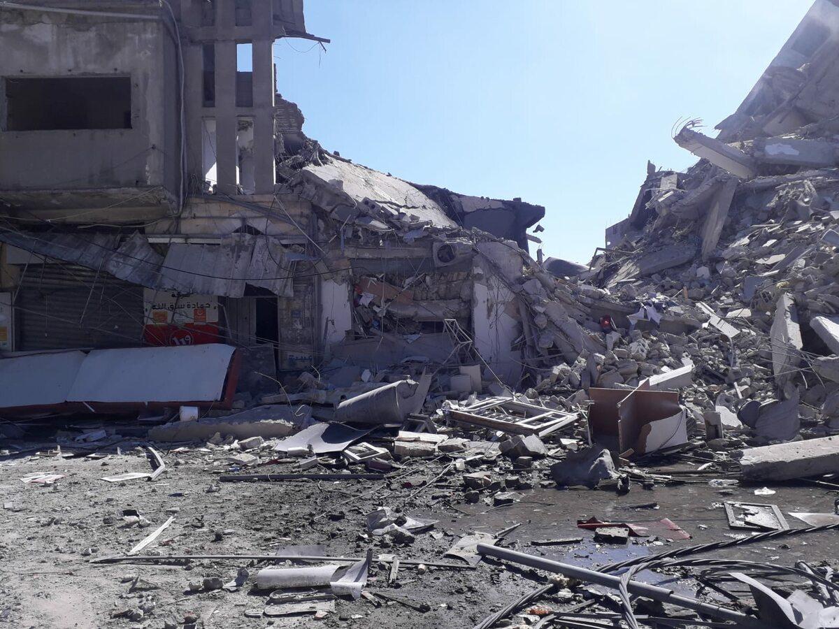 Srefa Gazy Sceny po izraelskim bombardowaniu w Strefie Gazy