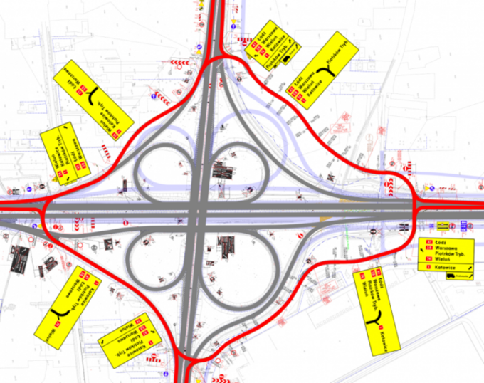 Zmiany wruchu naautostradzie A1