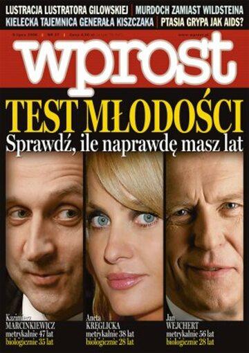 Okładka tygodnika Wprost nr 27/2006 (1230)