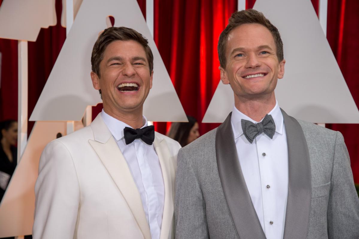 Nate Burtka i Neil Patrick Harris podczas 87. ceremonii rozdania Oscarów w 2015 roku