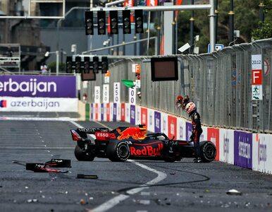 """Wypadek Verstappena w Baku mógł zakończyć się tragicznie. """"Uderzysz w tę..."""
