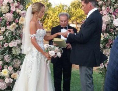 David Hasselhoff wziął ślub z młodszą o 27 lat modelką. Pokazał zdjęcia...