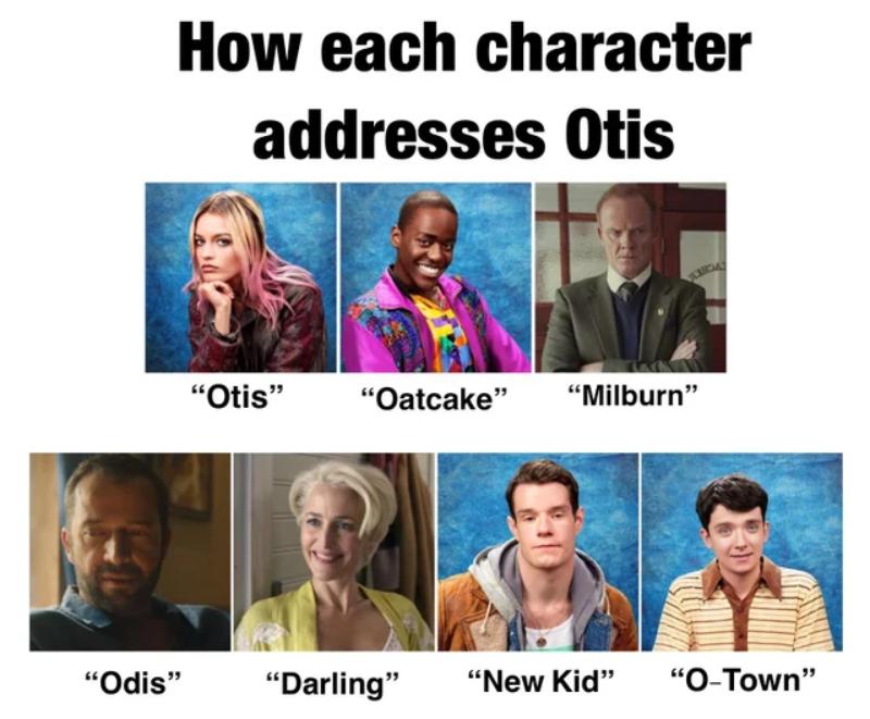 Jak postaci z serialu zwracają się do Otisa: