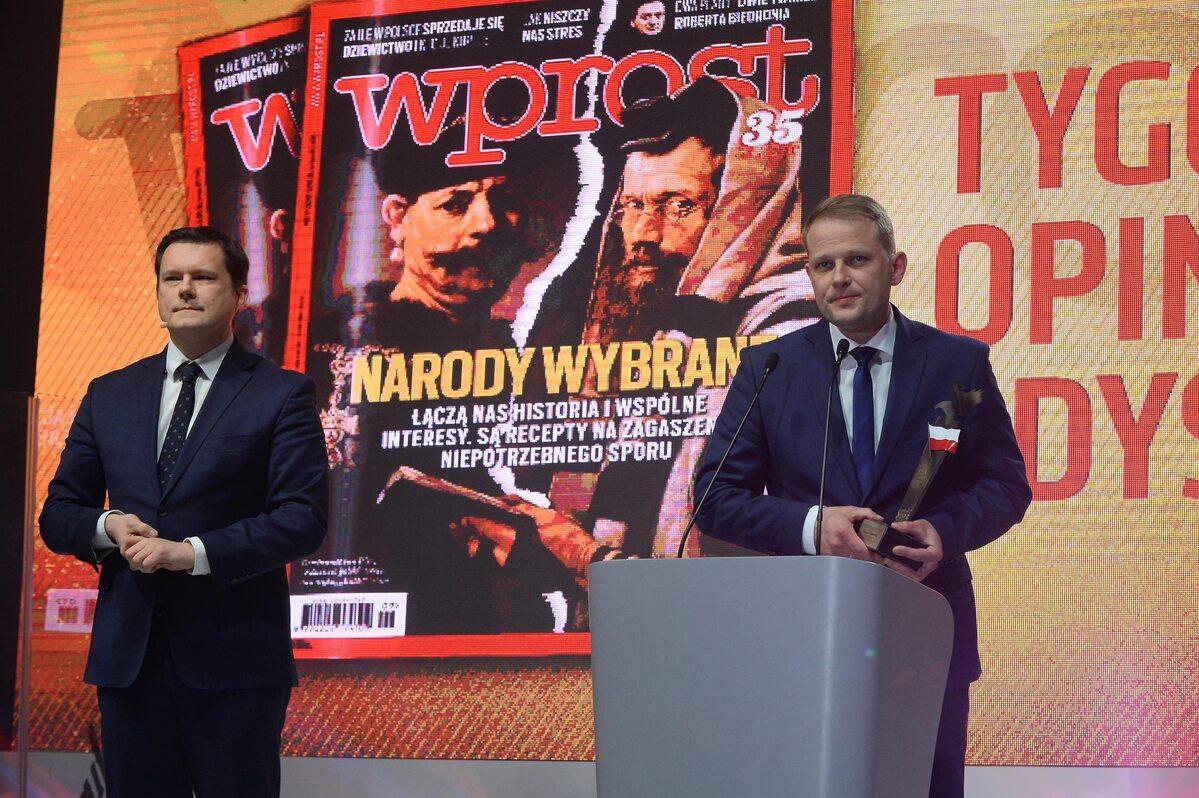 """Jacek Pochłopień i Łukasz Ossowski Sołtys Rytla otrzymał nagrodę specjalną - Orła """"Wprost"""""""