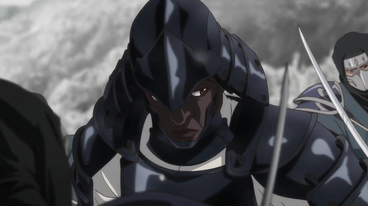 """Kadr z anime """"Yasuke"""""""