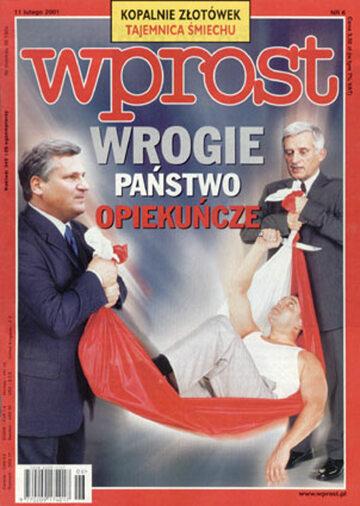 Okładka tygodnika Wprost nr 6/2001 (950)
