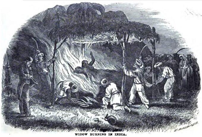 Sati narycinie wydanej przez brytyjskich misjonarzy