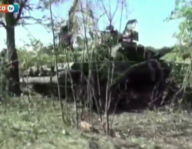 Zniszczone rosyjskie czołgi. W środku dokumenty z Czeczenii