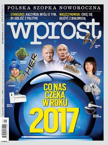 Okładka tygodnika Wprost nr 1/2017 (1768)
