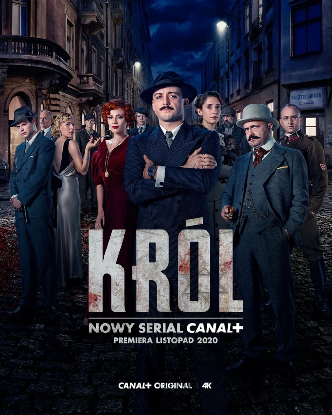 "Plakat doserialu Canal+ ""Król"""