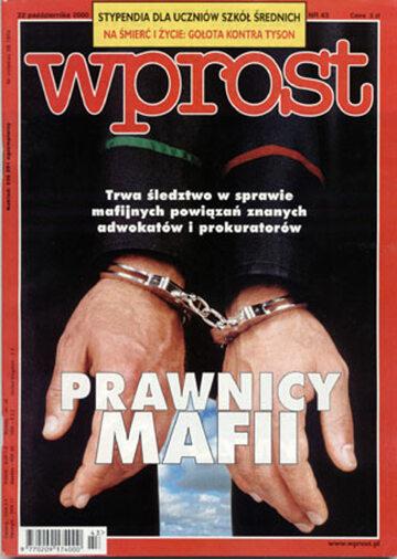 Okładka tygodnika Wprost nr 43/2000 (934)