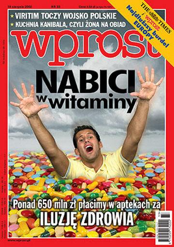 Okładka tygodnika Wprost nr 33/2002 (1029)
