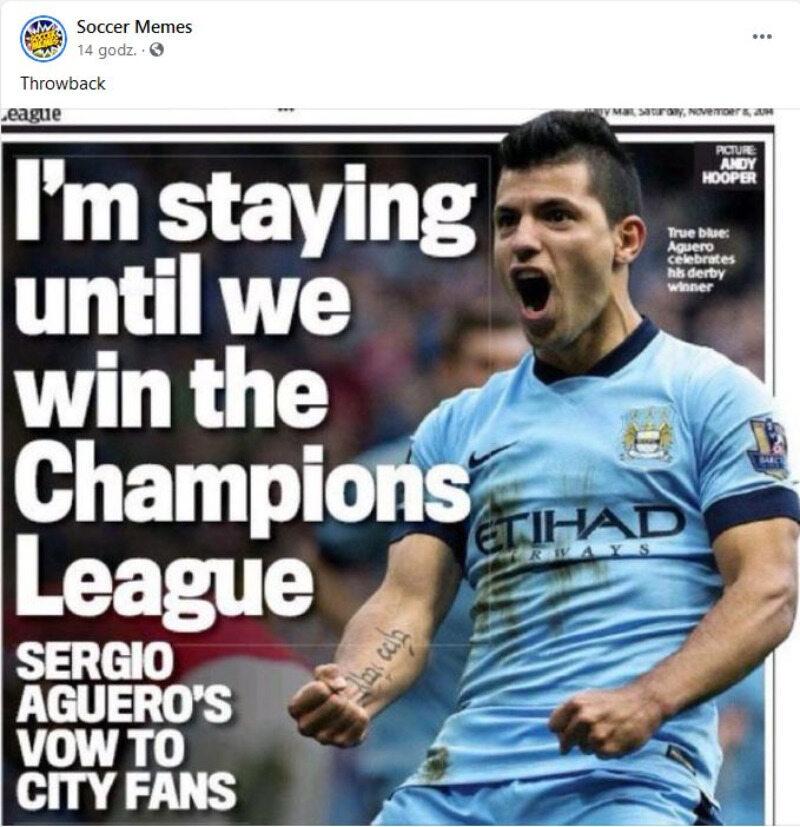 """""""Zostaję, dopóki City nie wygra Ligi Mistrzów"""". Cóż... nie siedź za długo w tej Barcelonie"""
