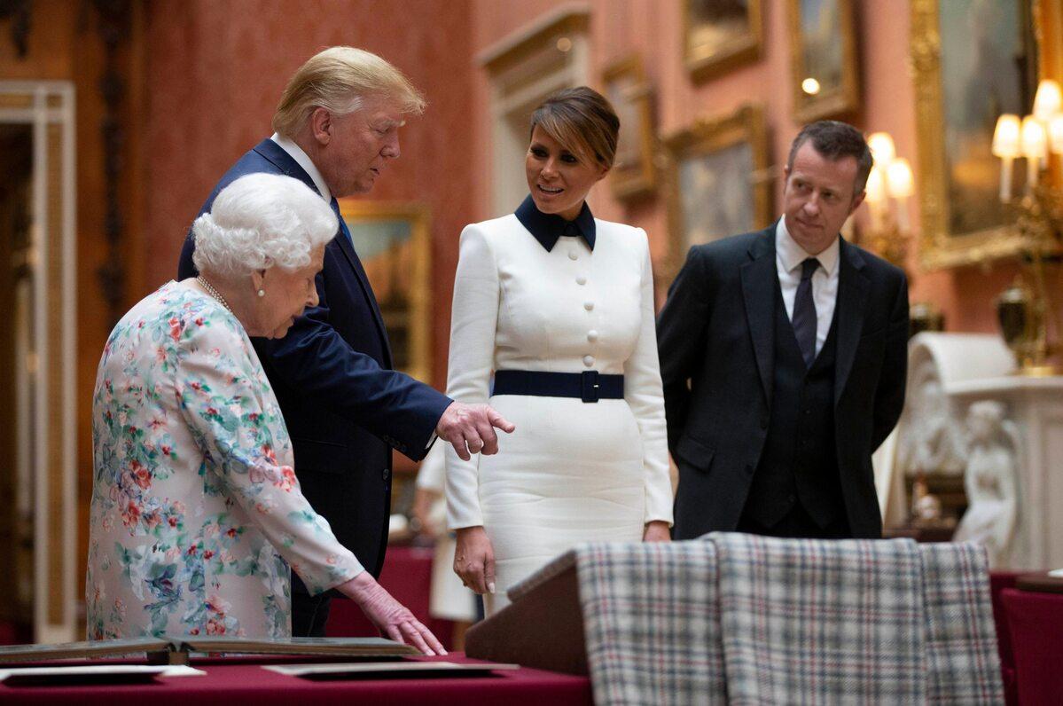 Królowa Elżbieta, Donald Trump, Melania Trump
