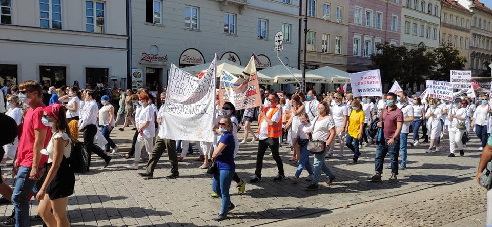 Warszawa. Protest medyków