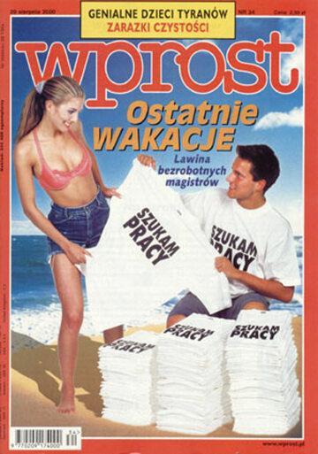 Okładka tygodnika Wprost nr 34/2000 (925)