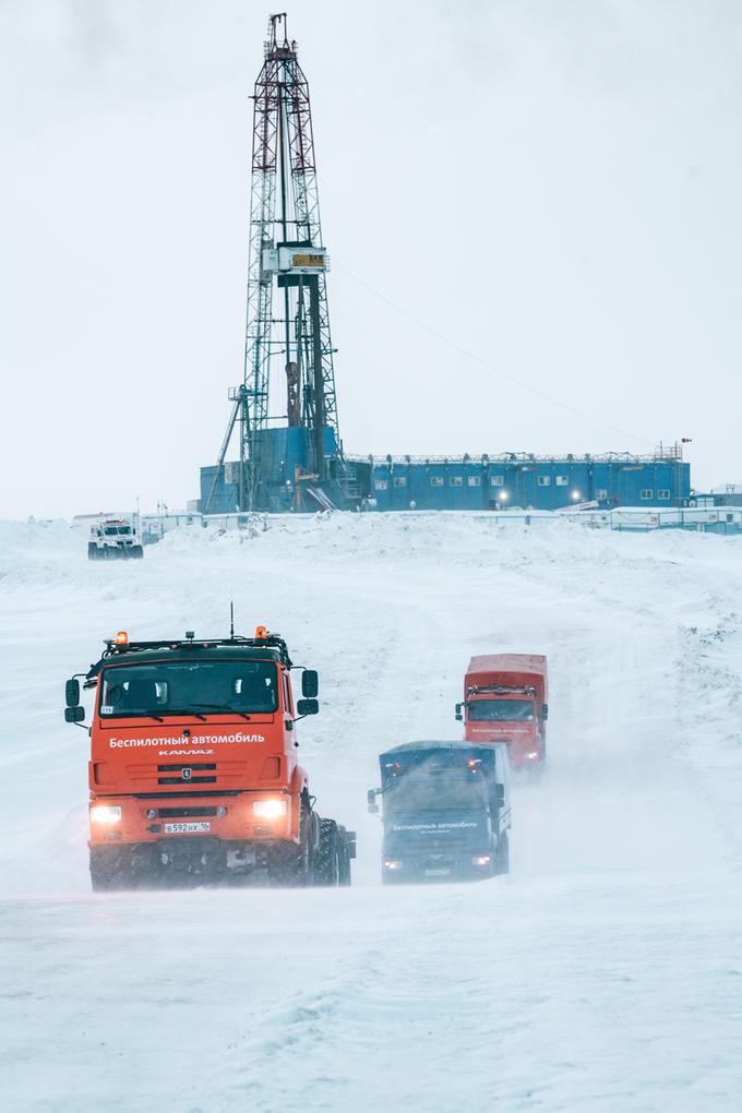 Bezzałogowe Kamazy Gazpromu