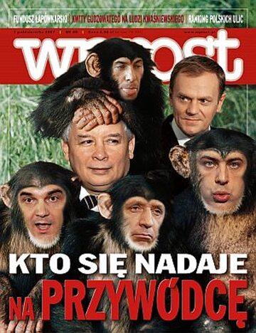 Okładka tygodnika Wprost nr 40/2007 (1293)