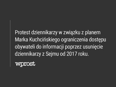 Karczewski: Dziennikarze siedzą w Sejmie na podłodze i piszą na kolanie....