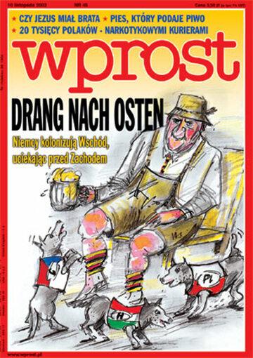 Okładka tygodnika Wprost nr 45/2002 (1041)