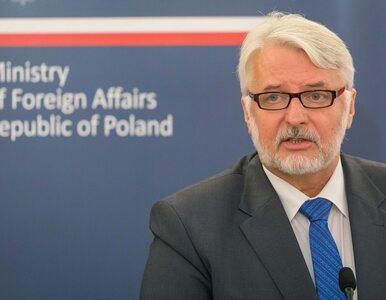 Witold Waszczykowski pochwalił się spotkaniem z ministrem kraju,...