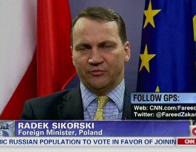 Sikorski: Polska na razie nie czuje się militarnie zagrożona
