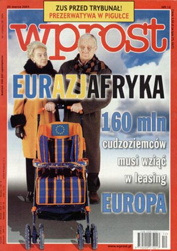 Okładka tygodnika Wprost nr 12/2001 (956)