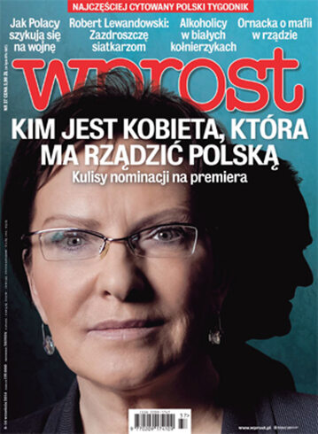 Okładka tygodnika Wprost nr 37/2014 (1645)