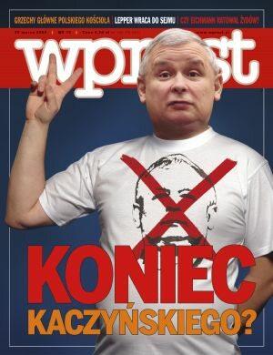 Okładka tygodnika Wprost nr 13/2008 (1318)