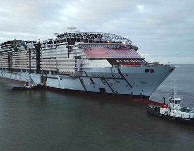 Zobacz jak zwodowano największy wycieczkowiec świata. Przy nim Titanic...