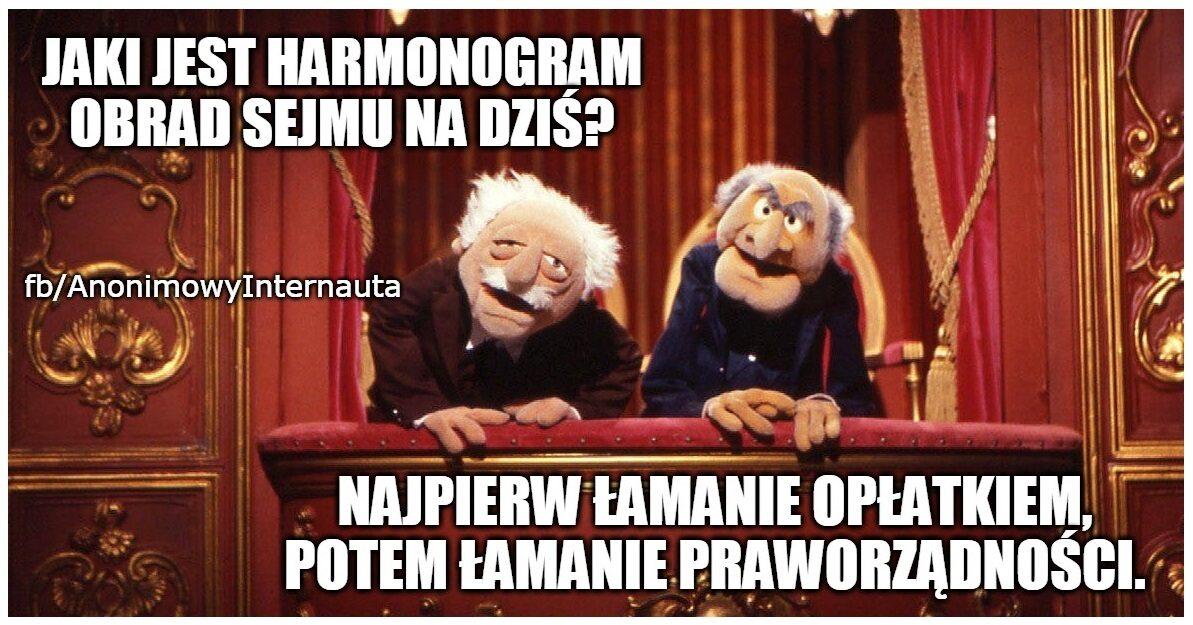 Mem związany z posiedzeniem Sejmu i pracą komisji sprawiedliwości