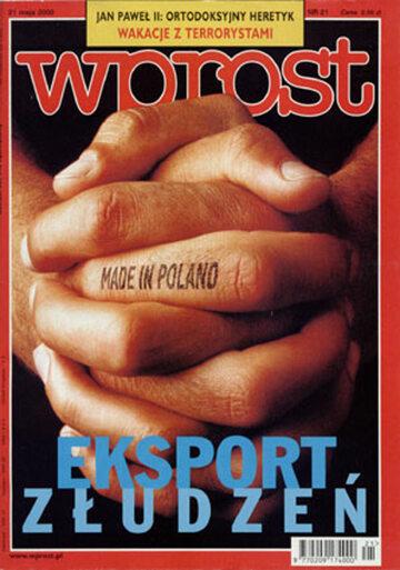 Okładka tygodnika Wprost nr 21/2000 (912)