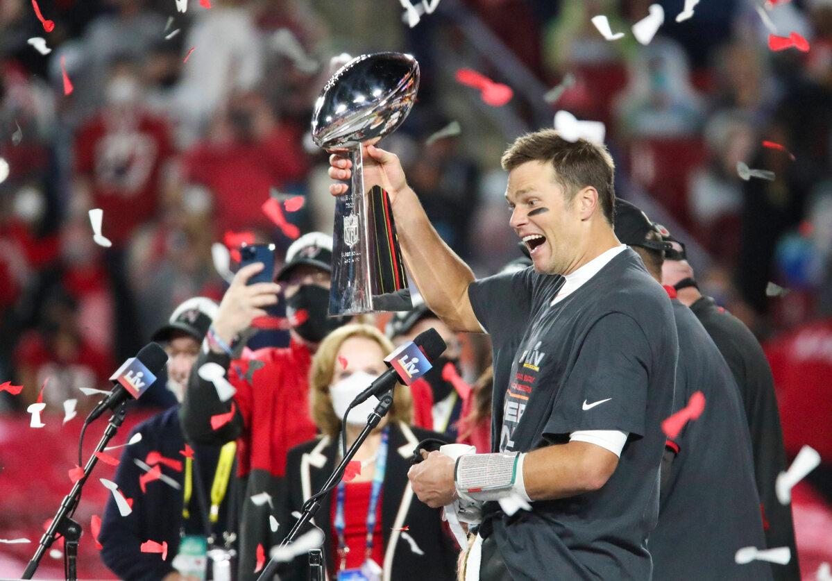 Tom Brady po wygraniu Super Bowl 2021