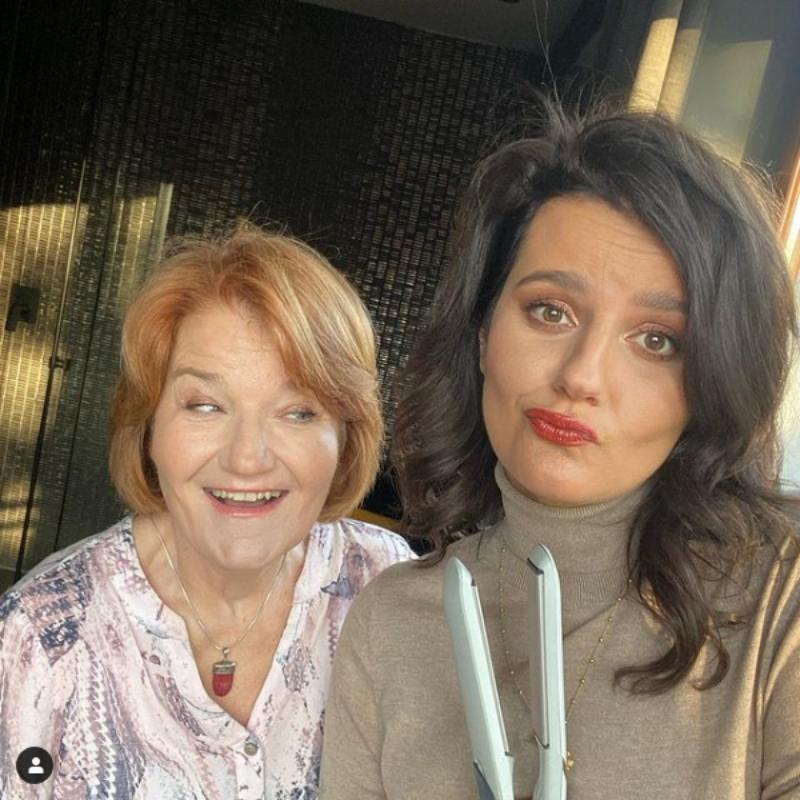 Aktorka Zofia Zborowska i jej mama Maria Winiarska