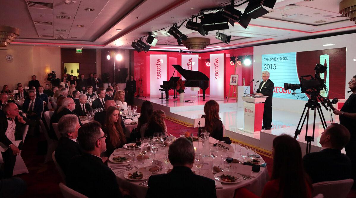 Gala Człowiek Roku 2015 tygodnika Wprost Gala Człowiek Roku 2015 tygodnika Wprost, hotel Marriott Warszawa, 1 grudnia 2015 r.
