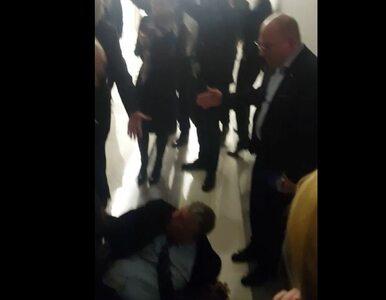 Suski upadł na podłogę, kto zawinił. Czy kolejne nagranie wyjaśni sprawę?