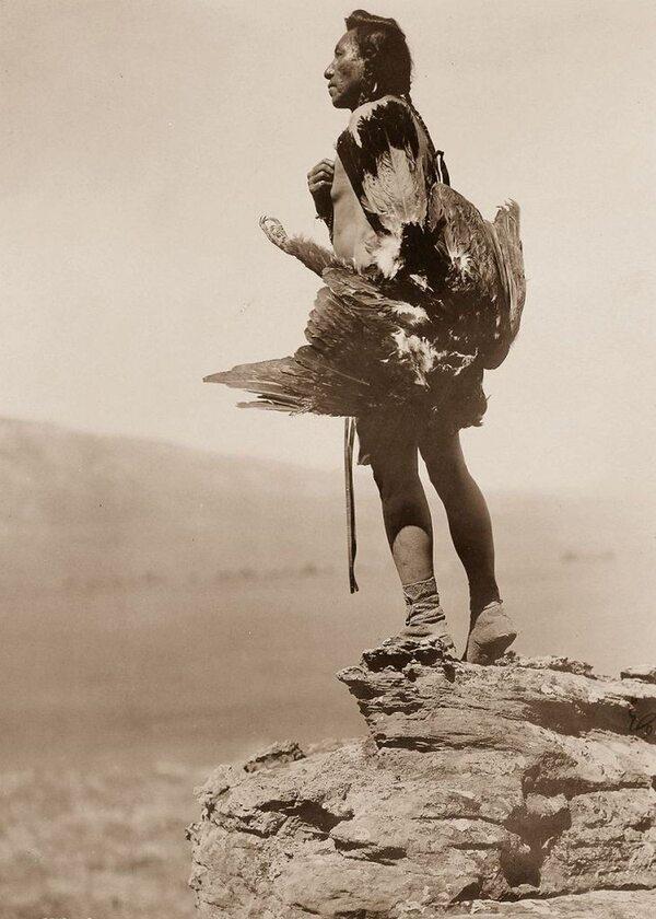 Indianin z plemienia Hidatsa